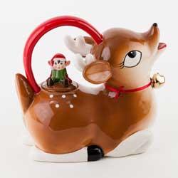 Tinsel Town Deer Teapot with 4 Deer Cups