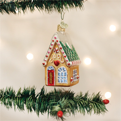 SALE!  Cookie Cottage Glass Ornament