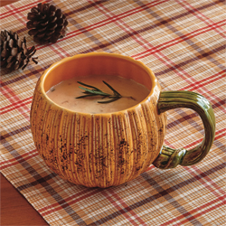 SALE!!  Oversized Pumpkin Mug / Bowl