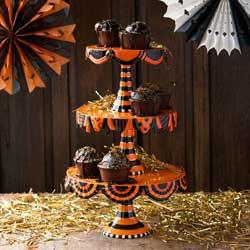 SALE!!  Glitterville Halloween Stacking Cake Plates