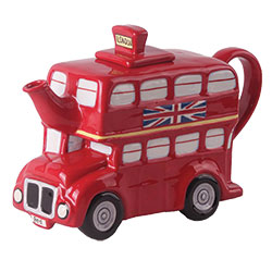 LTD QTY!  London Bus Ceramic Tea Pot