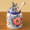 Polish Pottery Honey Pot with Dipper