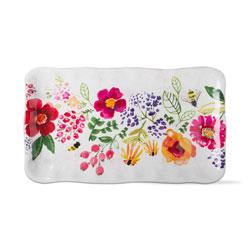 SO!  Fresh Flowers Melamine Platter