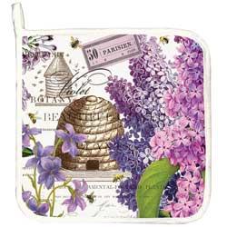 Lilac & Violets Potholder