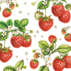Strawberry Plant Paper Cocktail Napkins