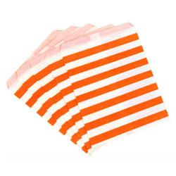 DP!  Orange Stripes Treat Bags, Set of 10