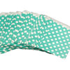 Aqua Polka Dots Treat Bags, Set of 10