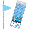 Dots on Blue Paper Straws with Flags, Package of 24