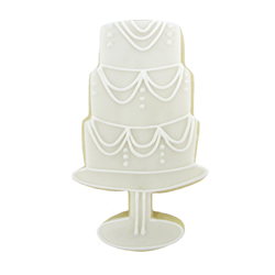 Cookie Cutter Tiered Cake on Stand, 4.5 x 2.5
