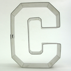 varsity letter c cookie cutter