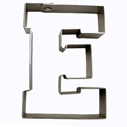 Cookie Cutter Varsity Letter E
