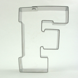 Cookie Cutter Varsity Letter F