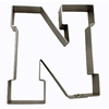 Cookie Cutter Varsity Letter N