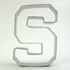 Cookie Cutter Varsity Letter S