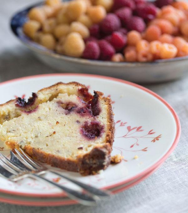 Lavender Lemon Blackberry Pound Cake