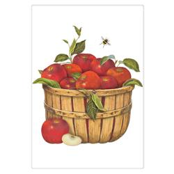 SALE!! LTD QTY! Red Apples In Basket Flour Sack Towel