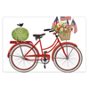 SALE!  Red Flag Bike Flour Sack Towel, 30 x 30