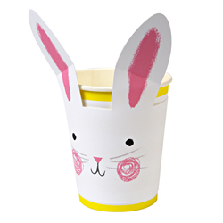 SALE!  Funny Bunny Party Cups, Set of 12