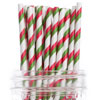 Holiday Striped Paper Straws