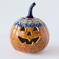 SALE!!  Jack O'Lantern Pumpkin - Polish Pottery