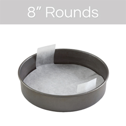 "8"" Round Cake Pan Pre-Cut Parchment"