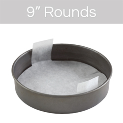 "9""  Round Cake Pan Pre-Cut Parchment"