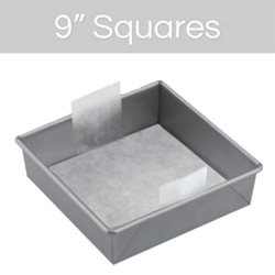 9 Cake Pan Pre-Cut Parchment-SQUARE, Pkg of 24