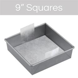 """9"""" Square Cake Pan Pre-Cut Parchment"""