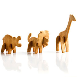 3D Safari Animal Cookie Cutters, Set of 3