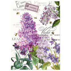 Lilac & Violets Kitchen Towel
