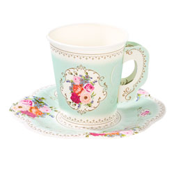 Tea Party Teacup & Saucer Set