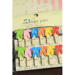 Baby Onesie Wooden Clip Set