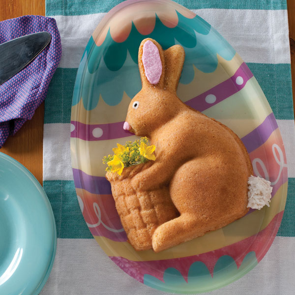 Coconut Sour Cream Easter Bunny Cake