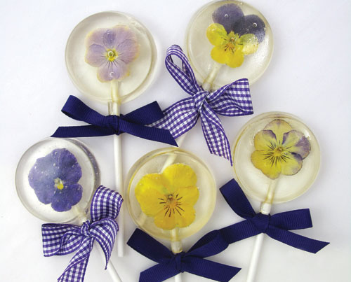 How To Make Hard Candy Lollipops With Edible Flowers
