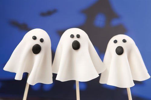 Fondant Ghost Pops How-To