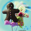 Gingerbread Man Lollipop Hard Candy Mold