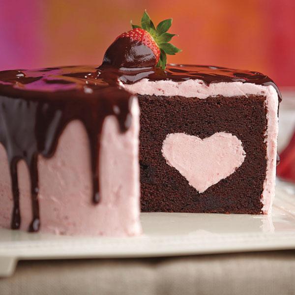 Cake Recipes - Chocolate Dipped Strawberry Cake Recipe