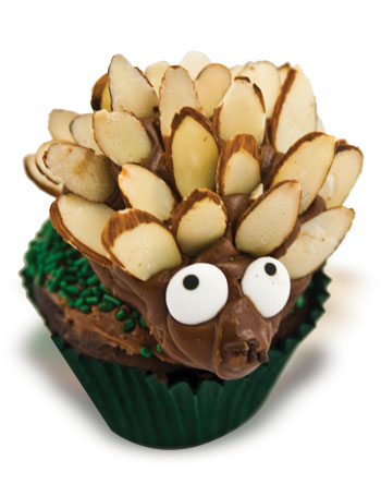 Hedgehog Cupcake How-To