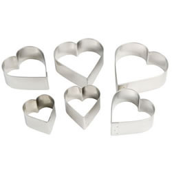 Heart Cookie Cutter Set, Plain Edge