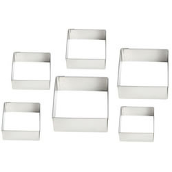 Cutters Graduated Square Set, Plain Edge
