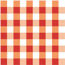 Pattern Red Gingham Wafer Paper