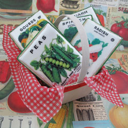 Vintage Veggie Seed Packages Wafer Paper