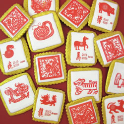 Chinese Zodiac Animals Wafer Paper