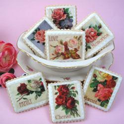 Mother's Day Vintage Stamps Wafer Paper