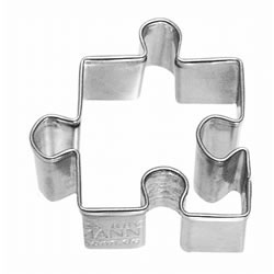 Cookie Cutter Puzzle Piece, Small Stainless Steel