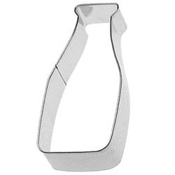 Cookie Cutter Milk Bottle, Tin