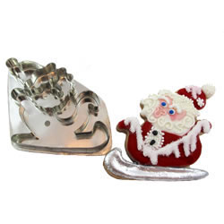 Hammer Song Wee Santa in Sleigh Tin Cookie Cutter