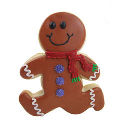 Cookie Cutter Running Gingerbread Man, Tin