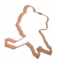 Cookie Cutter Hockey Player Copper