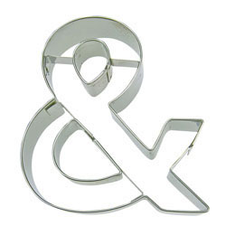 Cookie Cutter Ampersand Stainless Steel